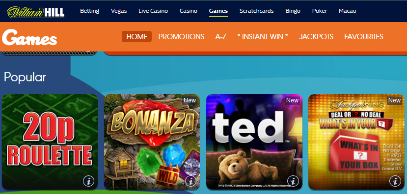"""""""play responsive online slots at William Hill"""""""